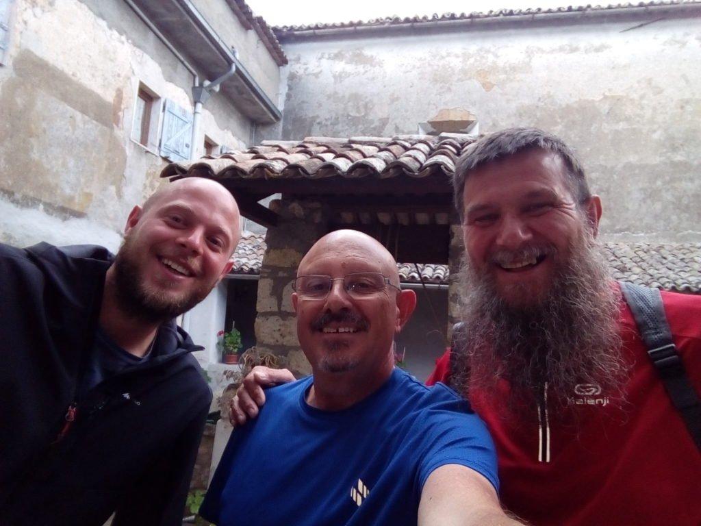 Un selfie con Lucca y Bruno. Acquapendente