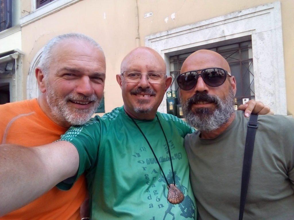 Un selfie con Francesco e Maximo