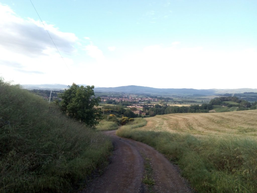 La belleza del camino en la Toscana