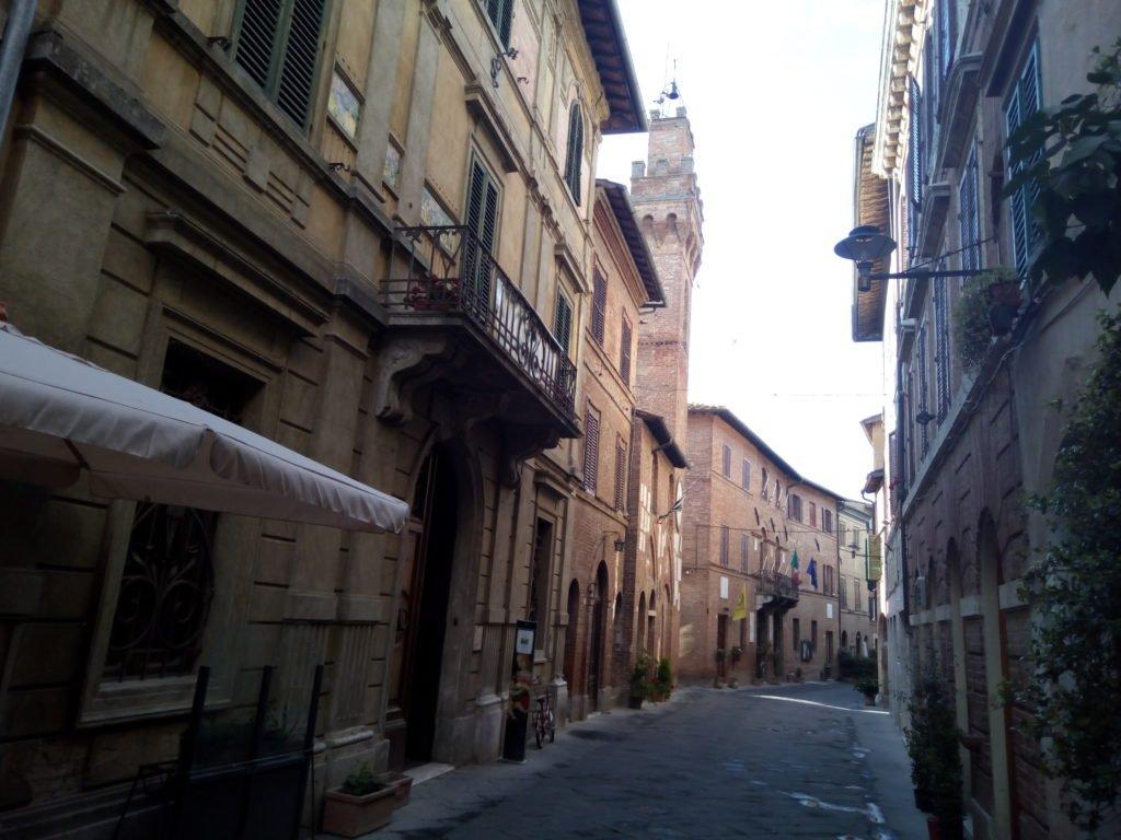 Una calle de Buonconvento