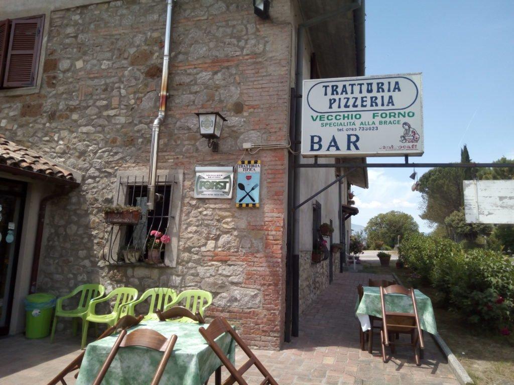 Restaurante de carretera Vecchio Forno, en el que paré a comer