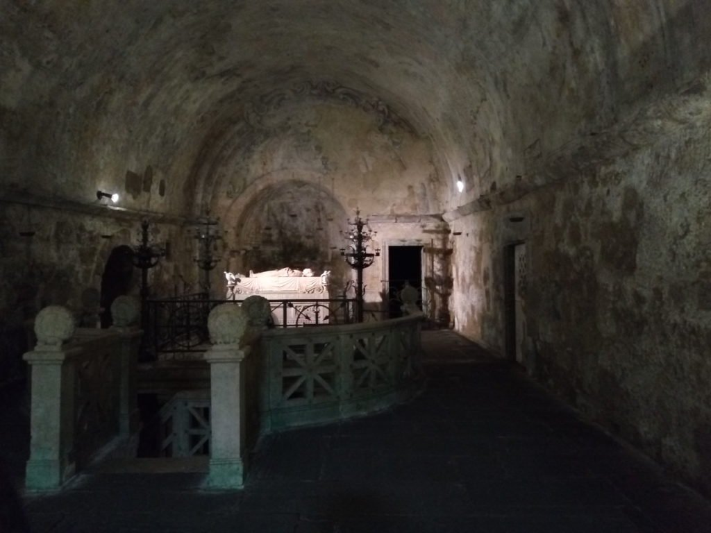 Cripta donde está enterrada Santa Cristina mártir. Bolsena