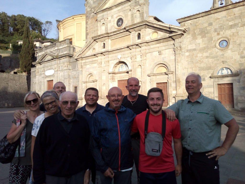 Foto de despedida con Emanuele y mis amigos italianos. Bolsena