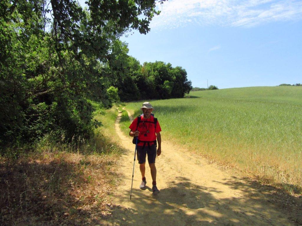 Peregrino Antonio en el camino