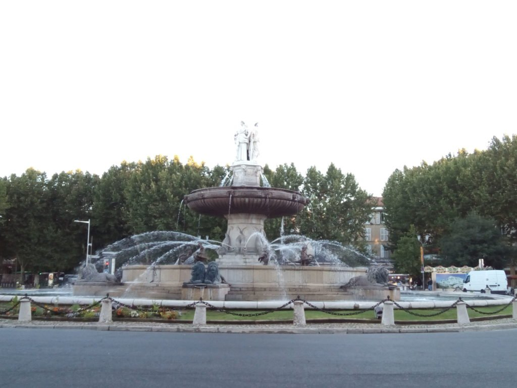 Fountain of the Rotonde in Aix-en-Provence
