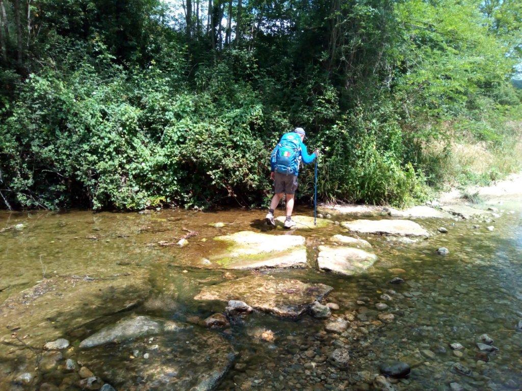 Vadeando un río