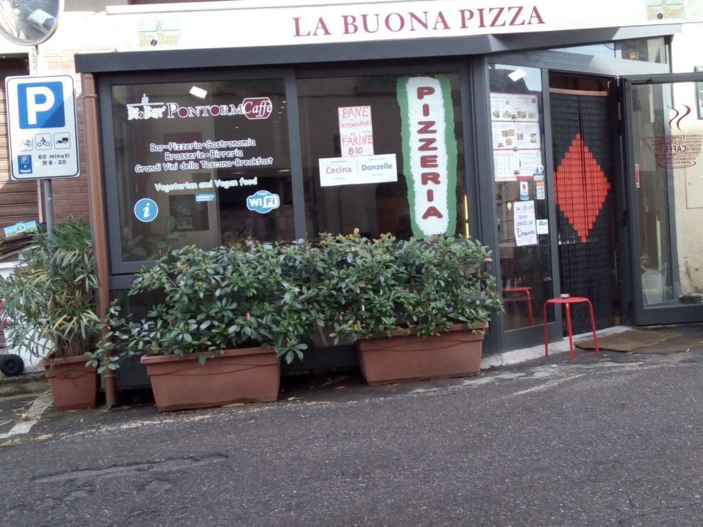 La Buona Pizza. Allí comimos en Gambassi Terme