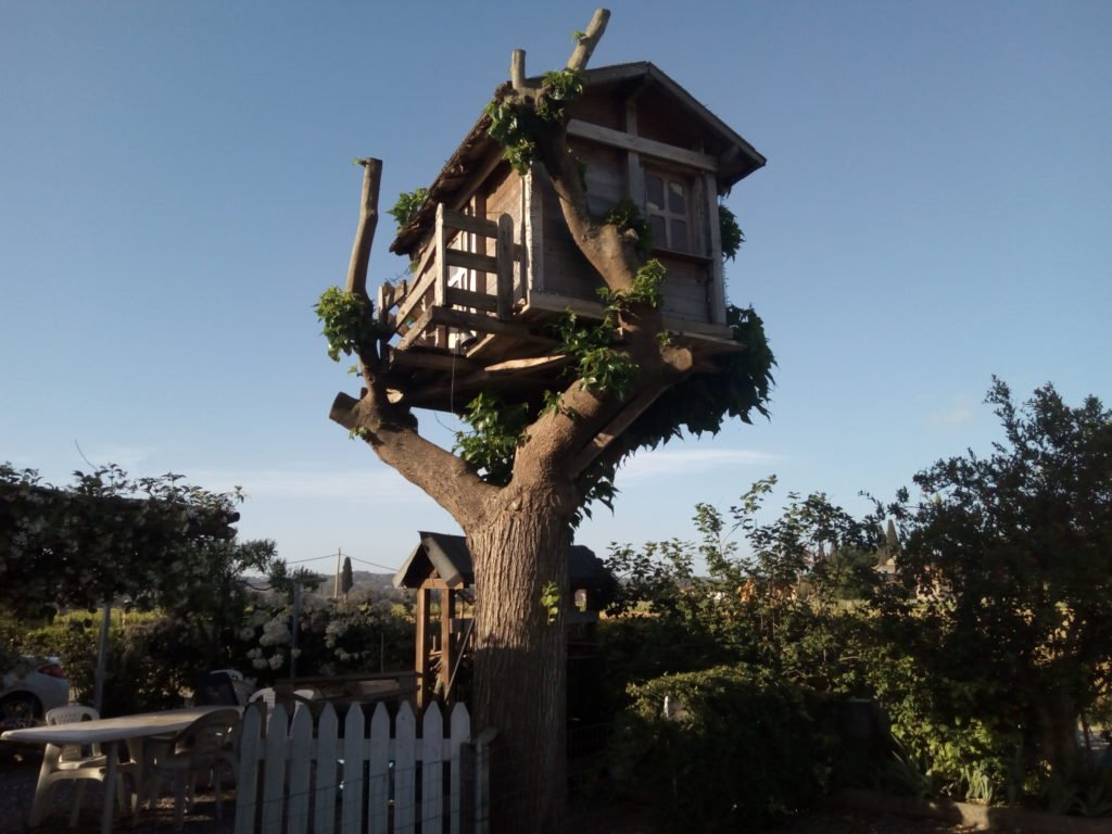 Una casita en un árbol