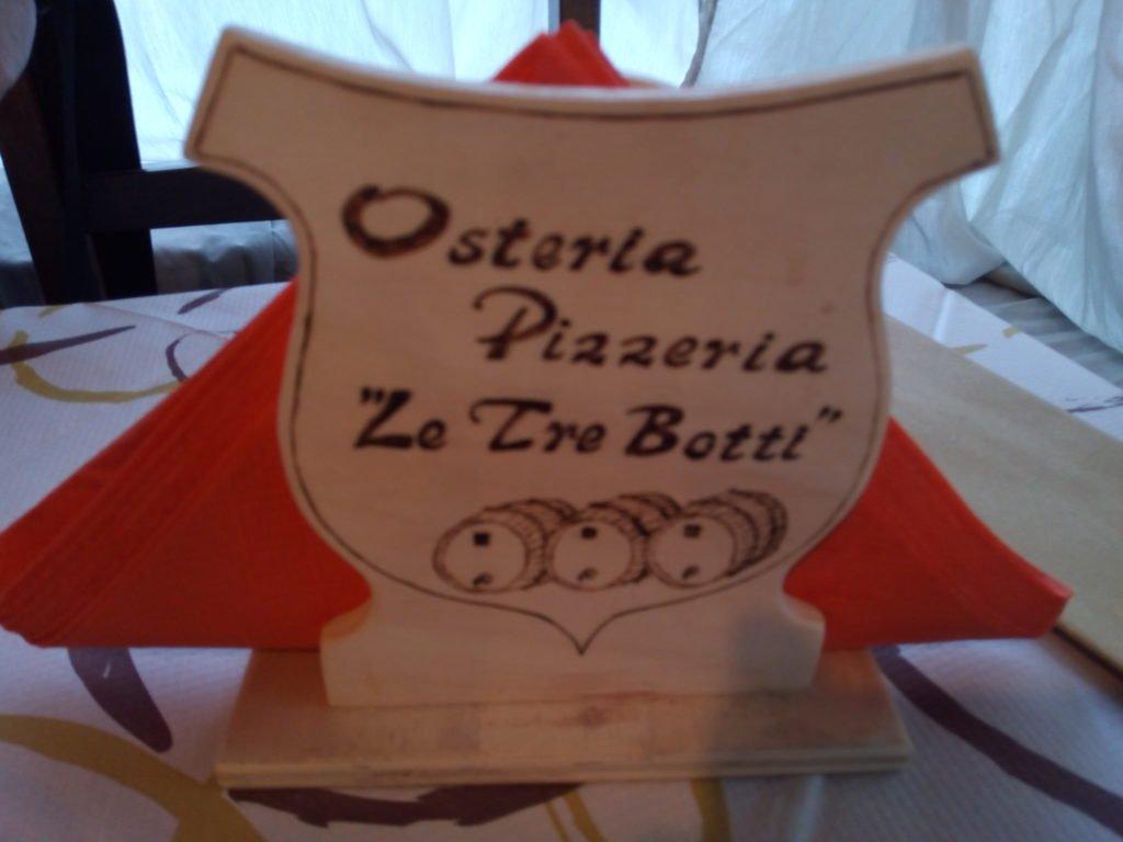 """Osteria Pizzeria """"Le Tre Botti"""". Camaiore"""
