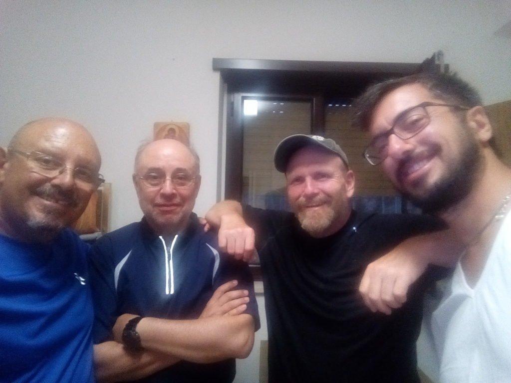 Selfie con Enrique, Jim y Andreas