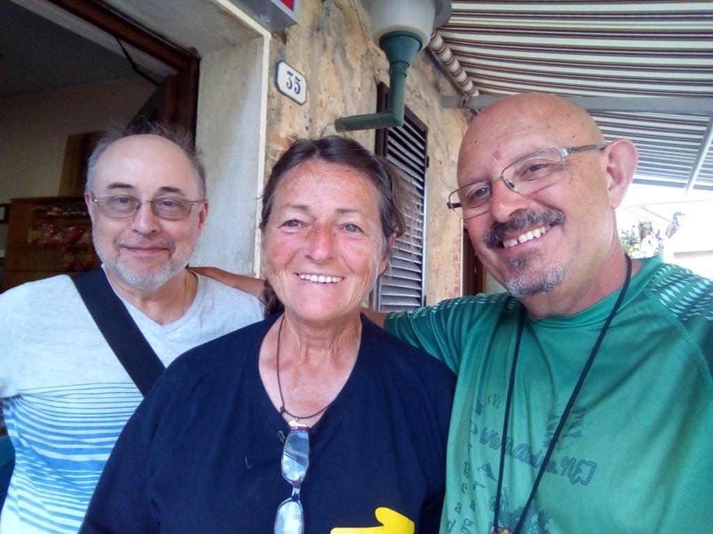 Una foto con Marisa, peregrina italiana