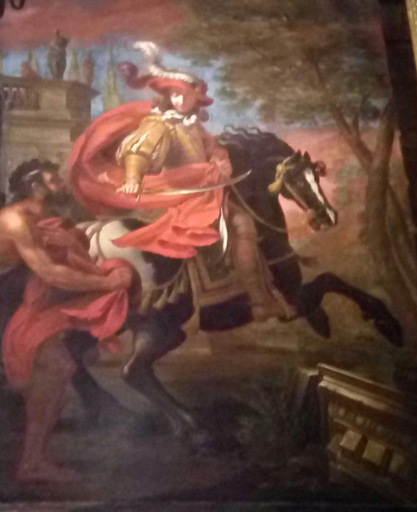 San Martín, cortando su capa