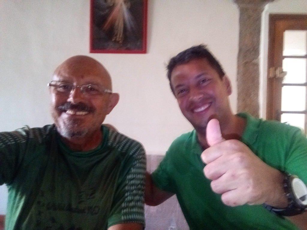 Con el Padre Adolfo