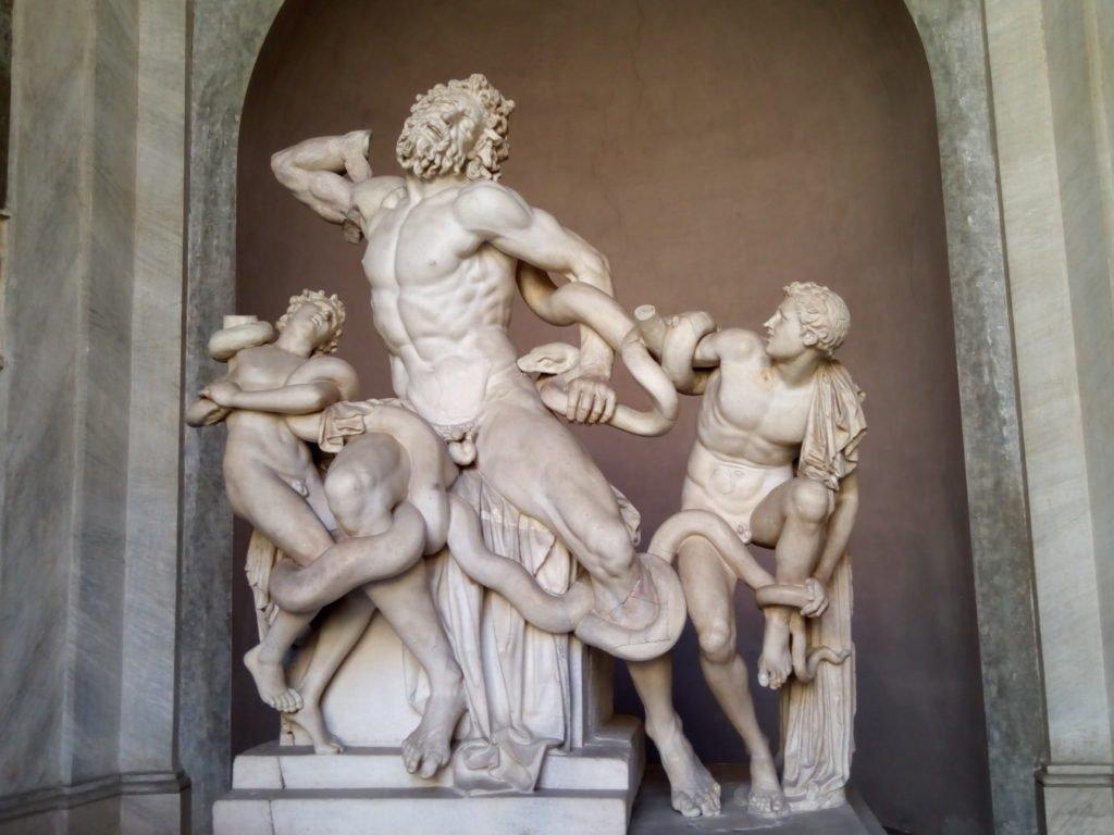 Grupo escultórico de Laocoonte y sus hijos