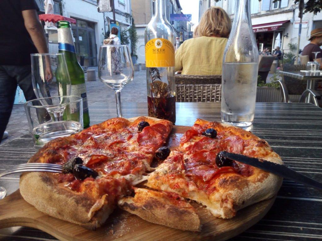 Mi cena en Arles