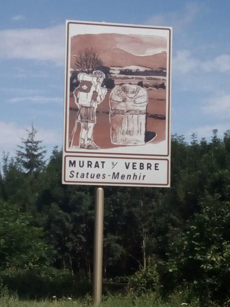 Cartel a la entrada de Murat sur Vèbre