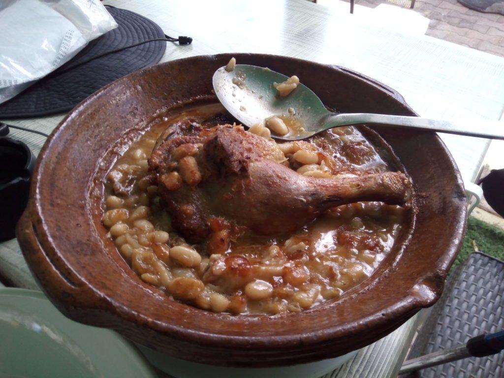 Comiendo en Villefranche de Lauragais