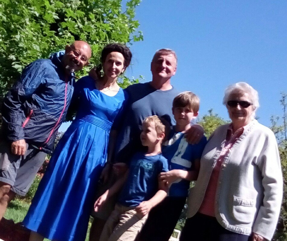 Con la encantadora familia de Bernard
