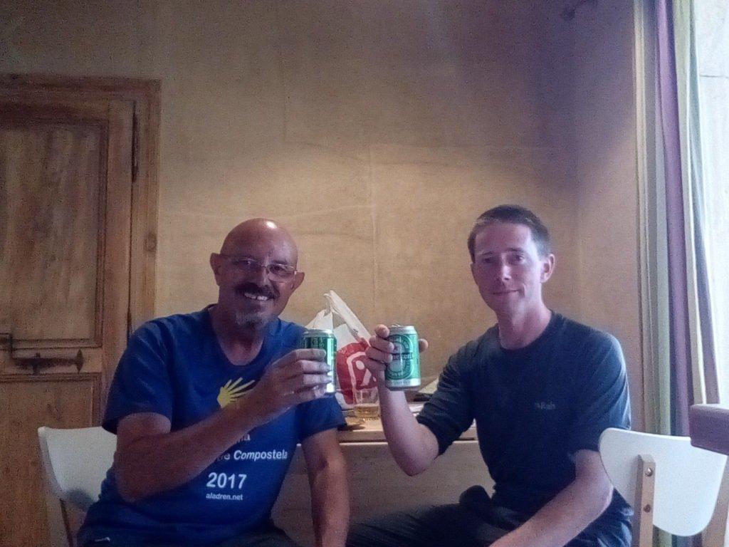 Con el amigo Denis, en el albergue de Lodève