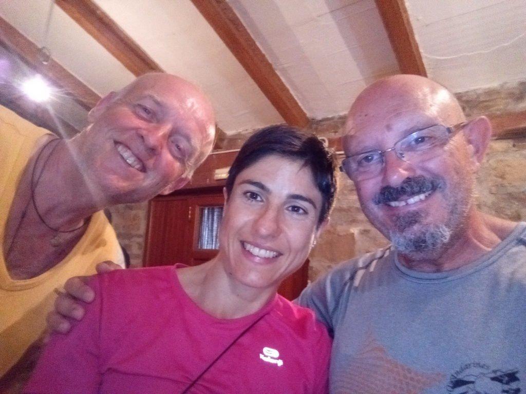 Con Marcell y Francesca. Ruesta