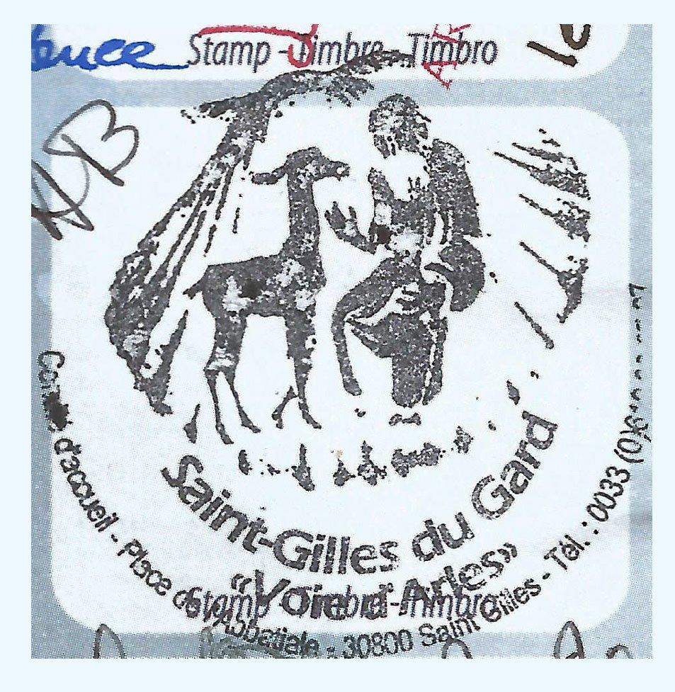 Sello del albergue de Saint Gilles