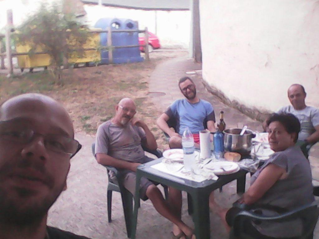 David, un servidor, Adrián, Emi y Jesús.  Triacastela