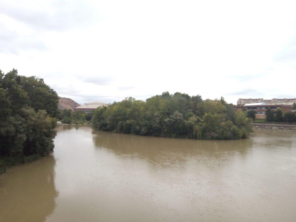 El Ebro en Logroño, camino de Zaragoza