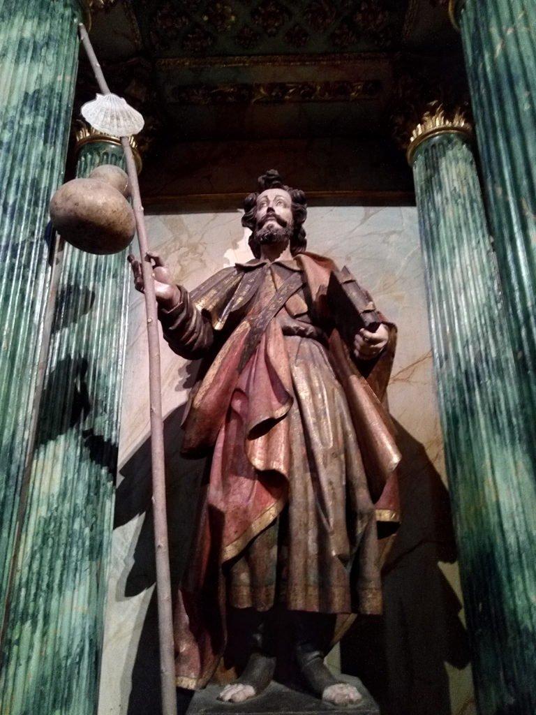 Un Santiago Peregrino en la Iglesia de Santa María La Real, de Nájera