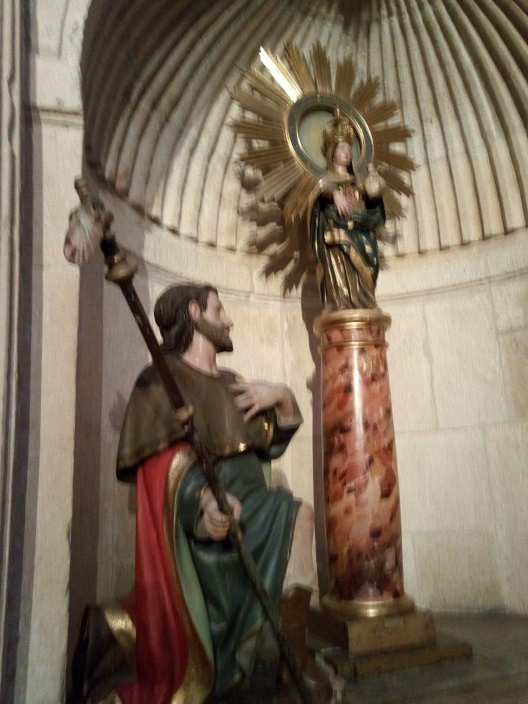 Santiago ante el Pilar de la Virgen, de la Virgen del pilar, para más señas