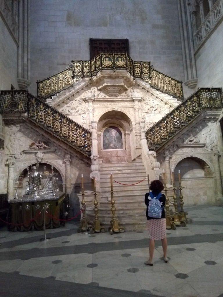Escalera dorada de la catedral de Burgos (de Diego de Siloé)