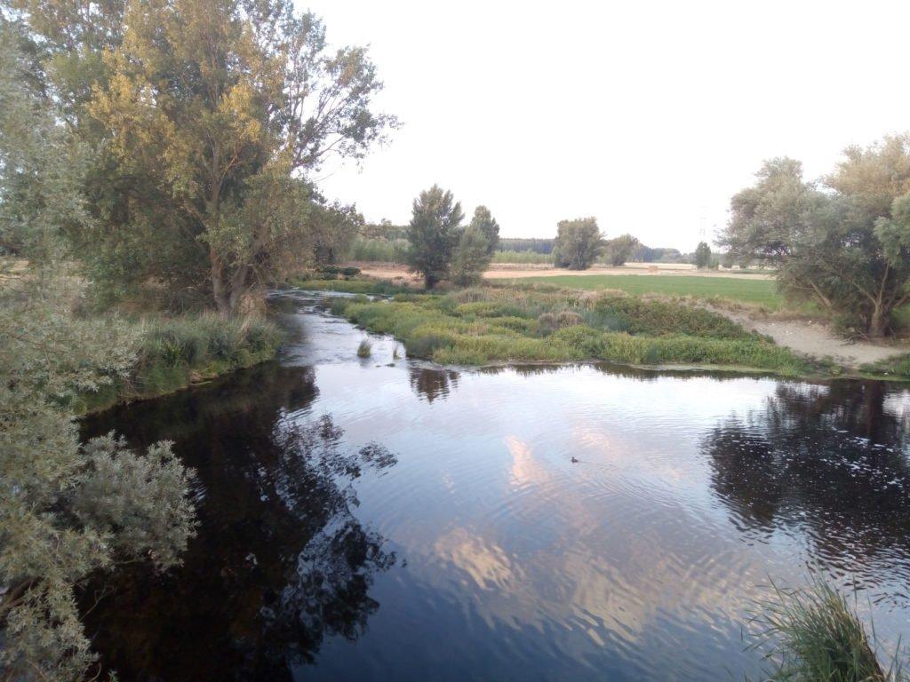 El Arlanzón, con mas agua que el Ebro en estas fechas