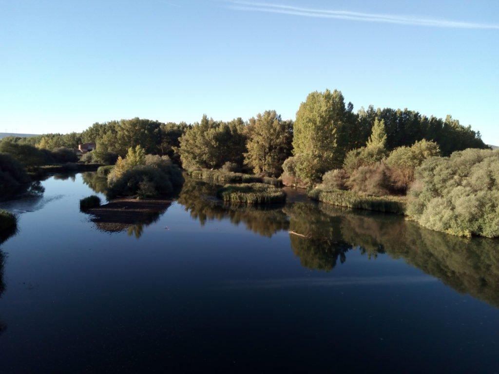 Cruzando el Río Pisuerga
