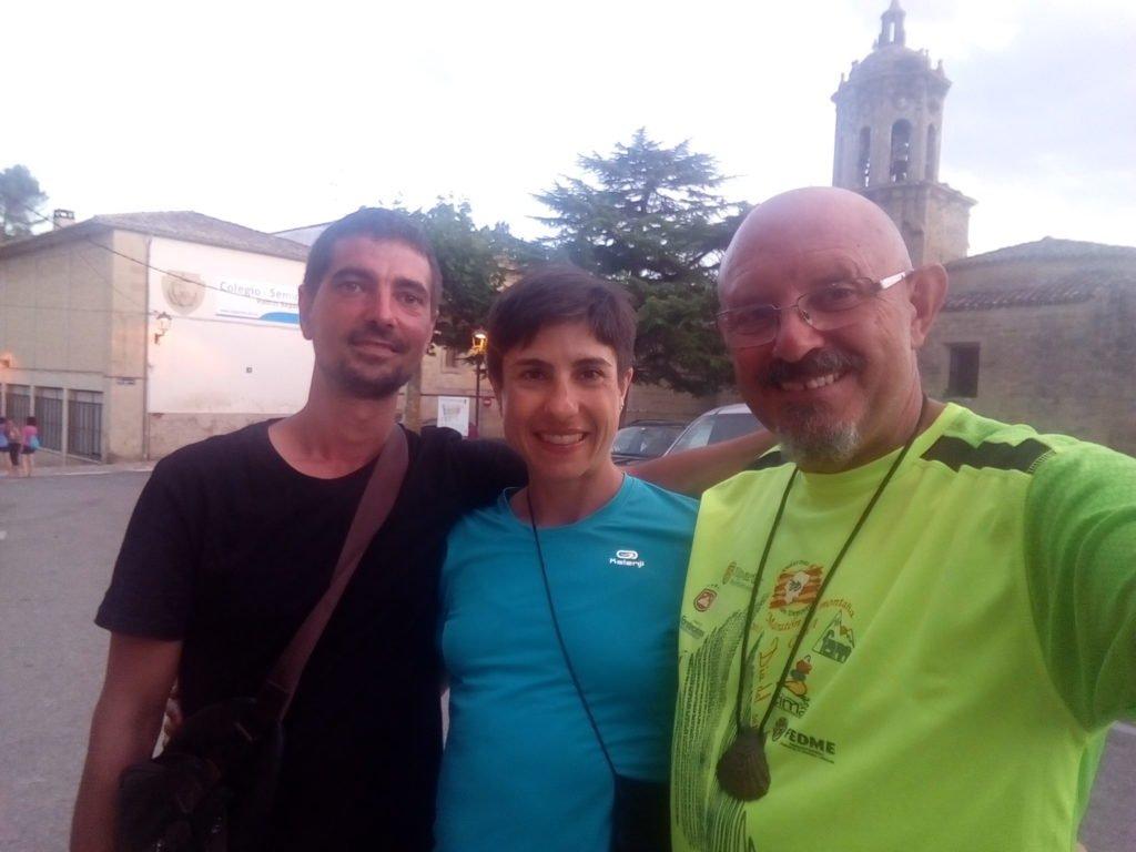 Juan Francisco y Francesca, selfie de despedida.