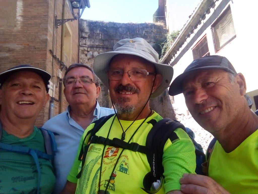 Miguel Ángel, Miguel, Antonio y Tano. En Estella