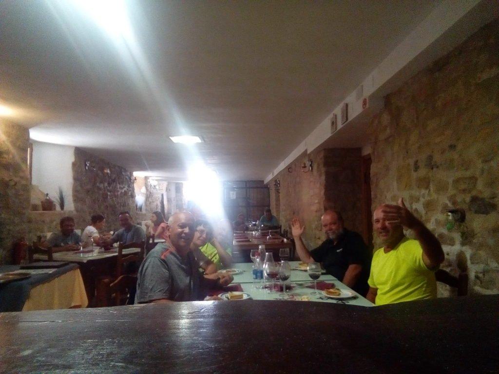 Comiendo en Ayegui