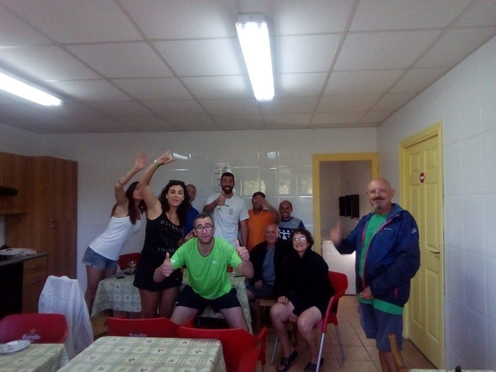 Selfie de silbido en albergue de Belorado