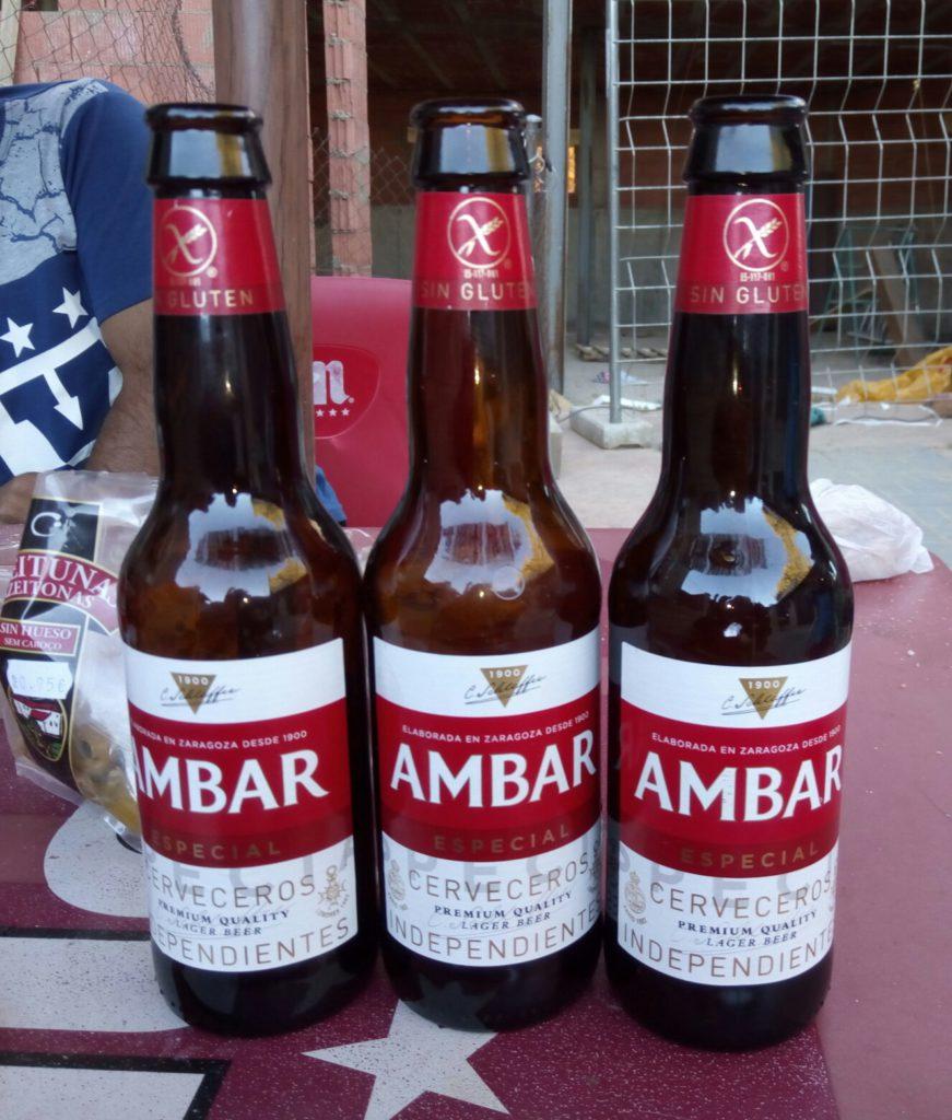 Cervezas Ambar, de La Zaragozana. ¡¡Aquí si que saben!!