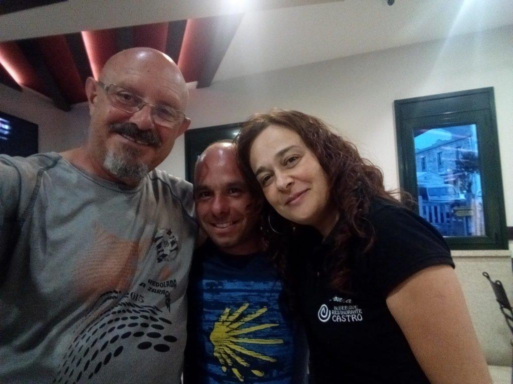 Con Sonia. Albergue Castro