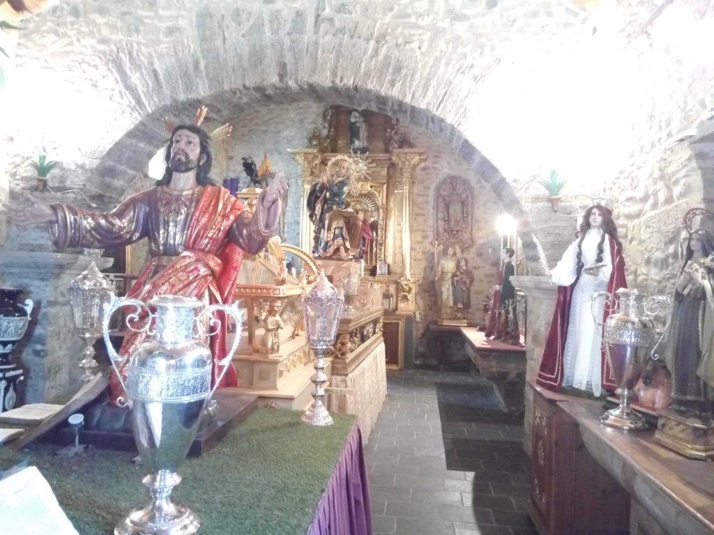 Interior de la ermita de San Roque