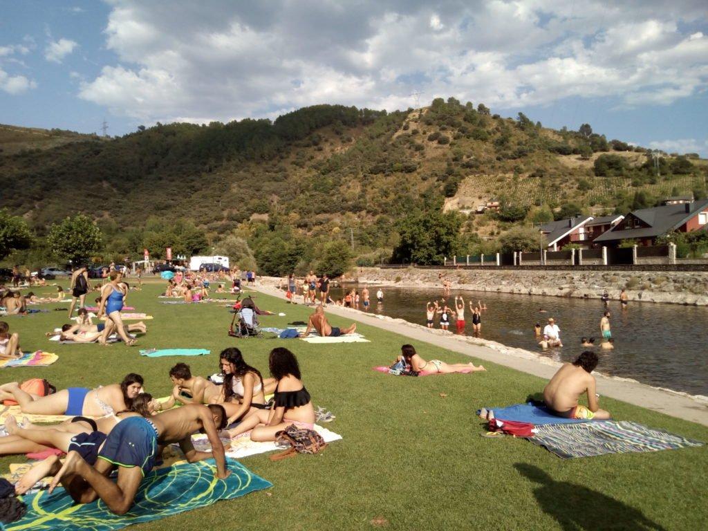 Playa fluvial de Villafranca del Bierzo