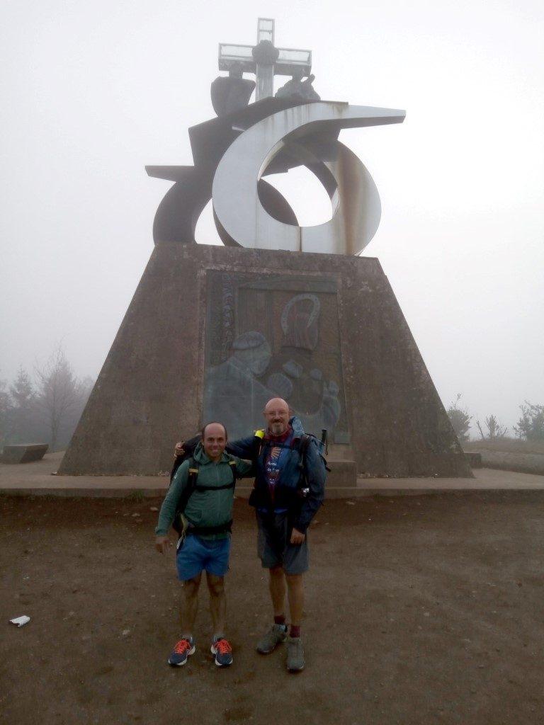 En el monumento a Juan Pablo II, en el Monte do Gozo