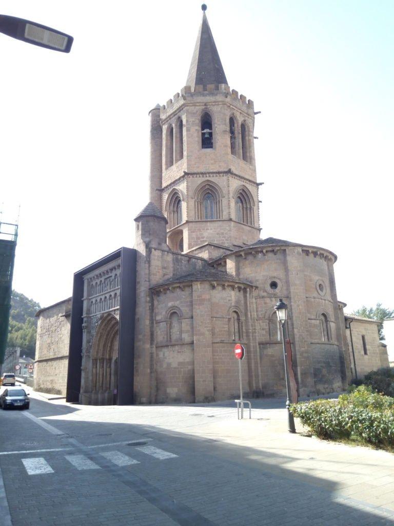 La iglesia de Santa María la Real de Sangüesa, declarada Monumento Nacional en 1889