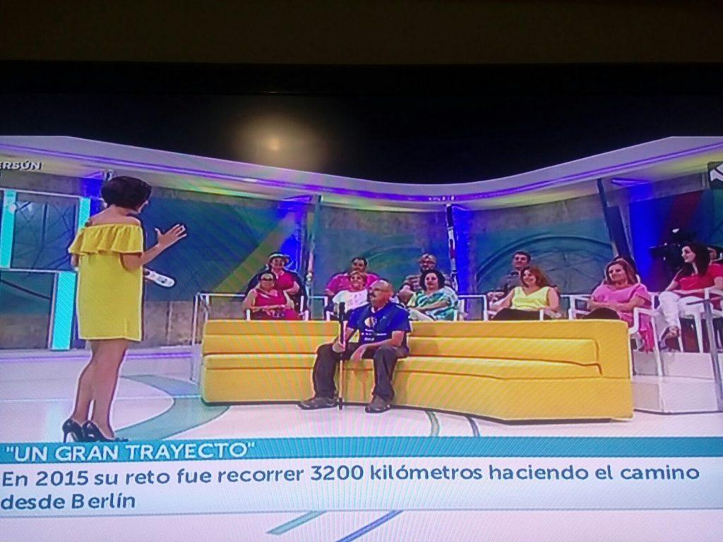 Entrevista en TV Aragón a mi regreso a casa