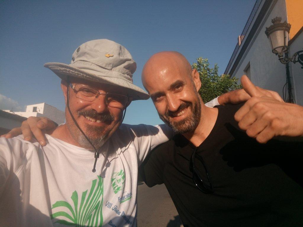 Con José Manuel. Almadén de la Plata