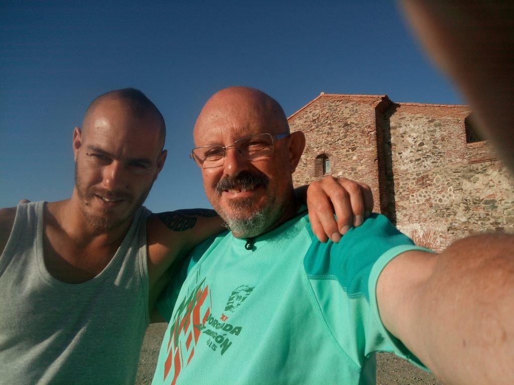 Con el amigo Floren, en Tentudia