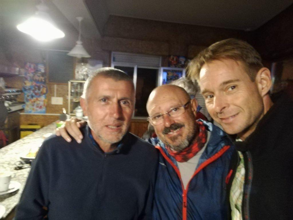 Con mis amigos Eugenio y Carsten