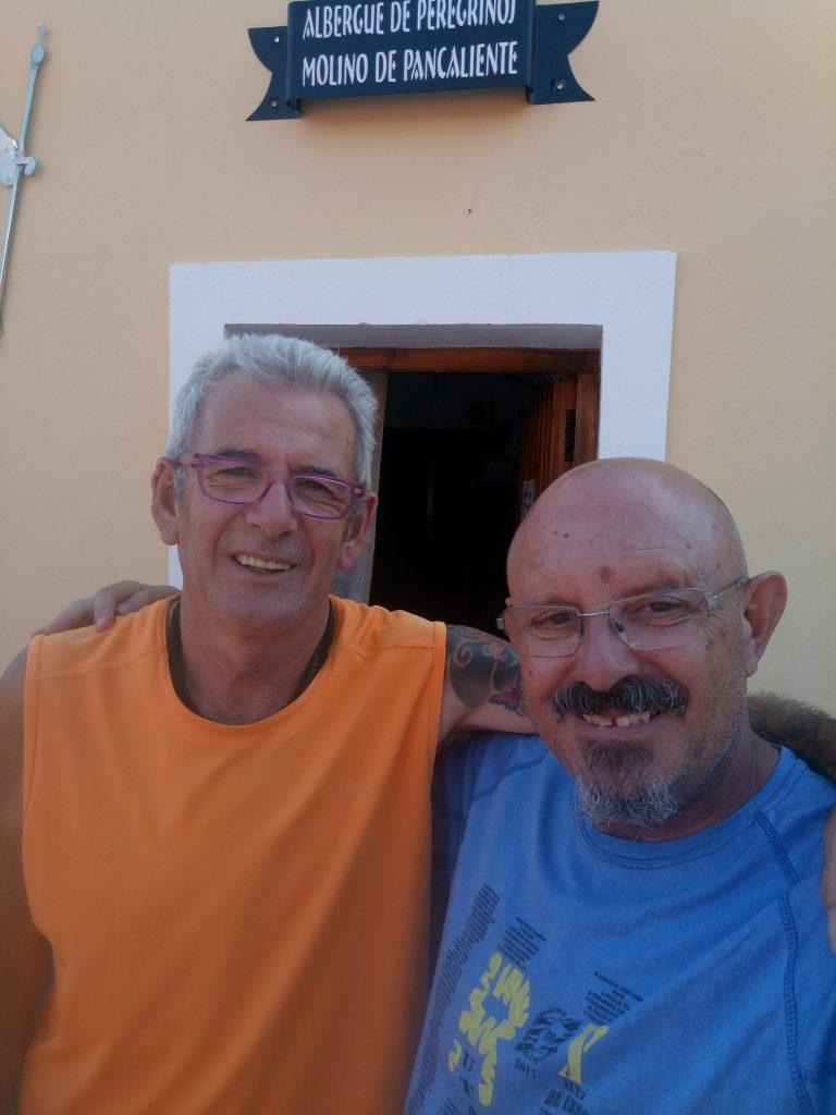 Con Gerardo, hospitalero de Mérida