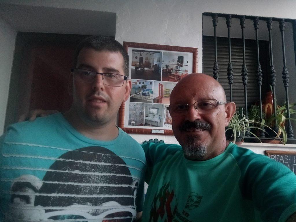 Con Fernando, hospitalero del Río Aljucén