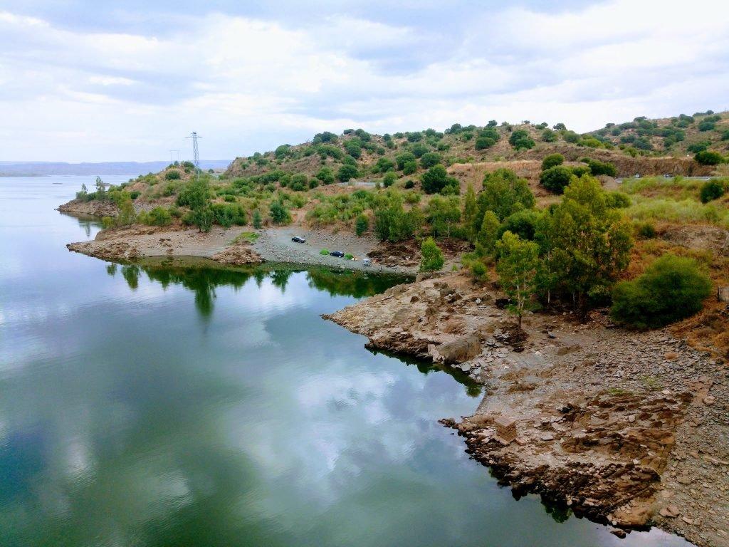Vista del embalse de Alcantara