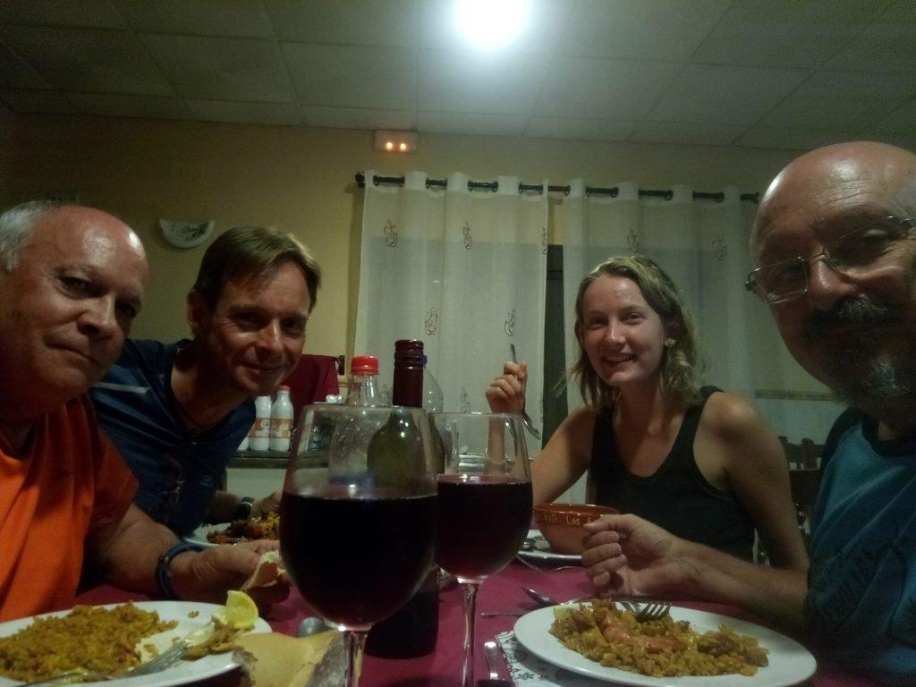 Miguel, Carsten, Anna, Antonio, en Galisteo